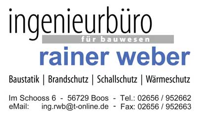Boos eifel ingenieurb ro rainer weber - Ingenieurburo ludwigshafen ...